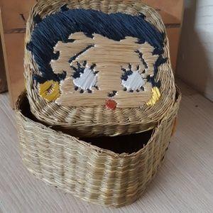 Betty Boop handmade Wicker Straw Basket